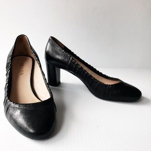Prada Leather Black heels pumps 37.5